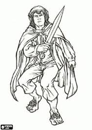 10 free printable lord rings coloring pages