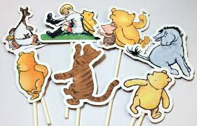 cupcake toppers winnie the pooh instant download cake toppers