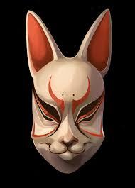rabbit mask halloween traditional japanese masks kitsune noh mask by tiggytuppence