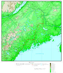 State Map Of South Carolina by Maine Elevation Map