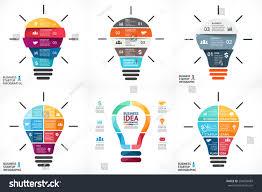 vector light bulb infographic template growth imagem vetorial de
