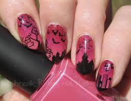 pink and black nail art break rules not nails