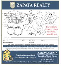 coloring contest gift card giveaway by zapata realty