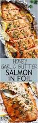 honey garlic butter salmon in foil in under 20 minutes then