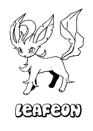 leafeon coloring pages hellokids com