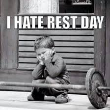 Gym Rest Day Meme - rest days