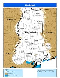 County Map Of Mississippi Noaa Weather Radio Mississippi