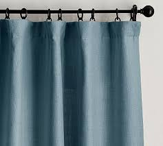 Teal And White Curtains Blue And White Curtains Pottery Barn