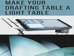 Drafting Table With Light Glass Drafting Table With Light Archives Gulliftys Us