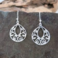 filigree earrings silver filigree earrings mahalo spirit