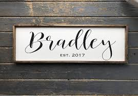 wedding gift name sign family name sign last name sign wood family sign wedding