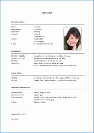 Lebenslauf Vorlage Excel 6 Word Lebenslauf Vorlage Business Template