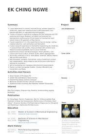 resume for manufacturing manufacturing resume example