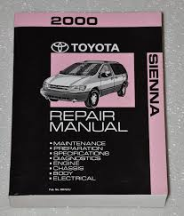 2000 toyota sienna repair manual mcl10 series toyota amazon