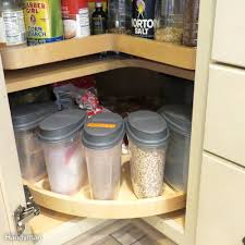 11 no pantry solutions on a budget family handyman use the whole corner cabinet