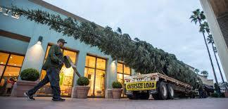 fashion island preps for christmas with 90 foot tree u2013 orange
