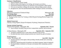 resume sample dba cover letter wonderful resume for cna survey