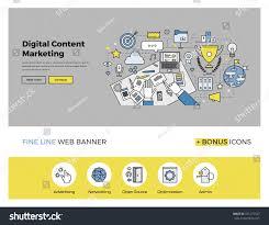 flat line design web banner template stock vector 331275527