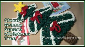 chunky granny square christmas tree crochet pattern youtube