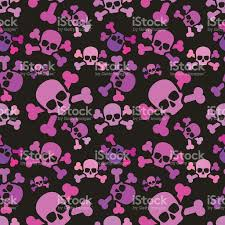 pink halloween background free pink skulls on dark background emo subculture seamless pattern