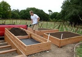 nice wood for raised vegetable garden terraced raised garden beds