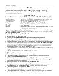Sample Resume Format For Quality Assurance by Qa Skills Resume Free Resume Example And Writing Download