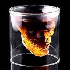 aliexpress com buy 2017 creative designer skull head shot glass