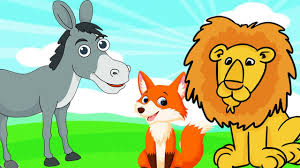 the lion fox and the the musical donkey animalstories