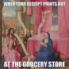 when your receipt prints out at the grocery store meme xyz