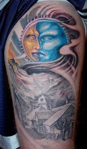 by marvin silva tattoos half sleeve sun moon