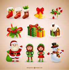 christmas collection vector free download