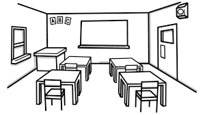 how to draw a class room for kids youtube