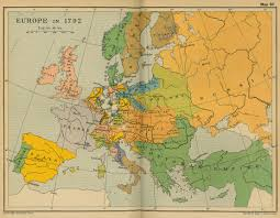 map of eurup of europe in 1792