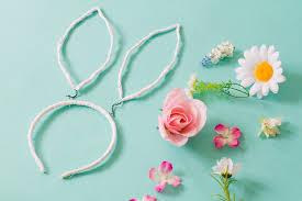 flower headbands diy diy floral bunny ears for your or flower gals bespoke