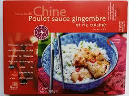 plat cuisiné picard poulet sauce gingembre et riz cuisiné picard 350 g