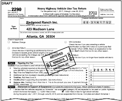 form 2290 tax computation table 3 11 23 excise tax returns internal revenue service