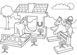 friends lego coloring pages lego duplo horse stable and jockey coloring pages batch coloring