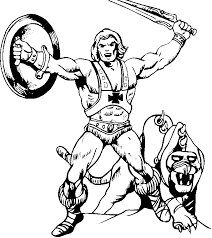 she ra coloring pages coloring pictures of he man