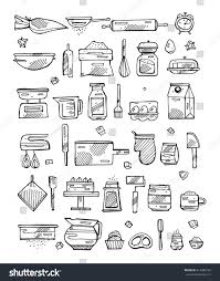 Bakery Kitchen Design by Vector Bakery Kitchen Cooking Tools Retro Stock Vector 413480125