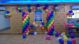 simple birthday balloon decoration image inspiration of cake and