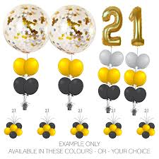 balloon arrangements event package 2 foil numbers plus big confetti balloon