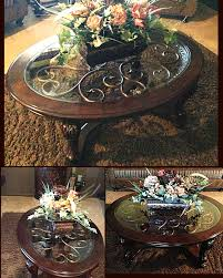ashley furniture thanksgiving sale ashley furniture coffee table with artificial flower arrangement
