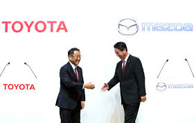 my toyota sign up mazda toyota team up on evs connected cars new plant in us