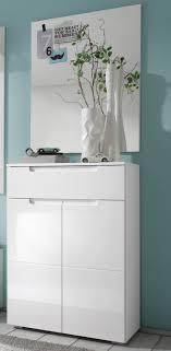 schuhschrank flur garderoben set in weiss hochglanz spiegel schuhschrank flur diele