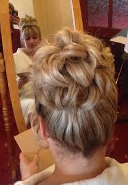 bride barrel curl bun cheer me updo pinterest barrel curls