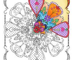 mandalas color etsy