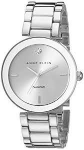 silver bracelet watches images Anne klein women 39 s ak 1363svsv diamond dial silver jpg