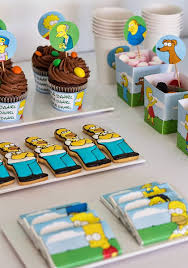 kara s ideas the simpsons themed birthday ideas