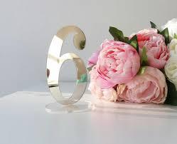 acrylic table numbers wedding mirror acrylic table numbers silver mirror table numbers table
