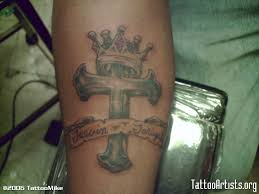 cross crown tattoo on arm photo 2 photo pictures and sketches